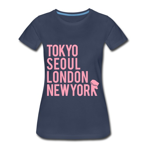 Girls' Generation - Mr. Taxi (Pink Flex Print) [Women's Shirt] - Women's Premium T-Shirt