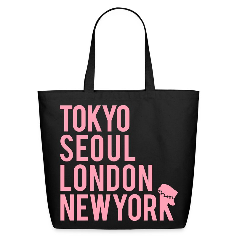 Girls' Generation - Mr. Taxi (Pink Flex Print) [Cotton Tote] - Eco-Friendly Cotton Tote