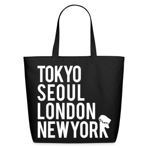 Girls' Generation - Mr. Taxi (White Flex Print) [Cotton Tote] - Eco-Friendly Cotton Tote
