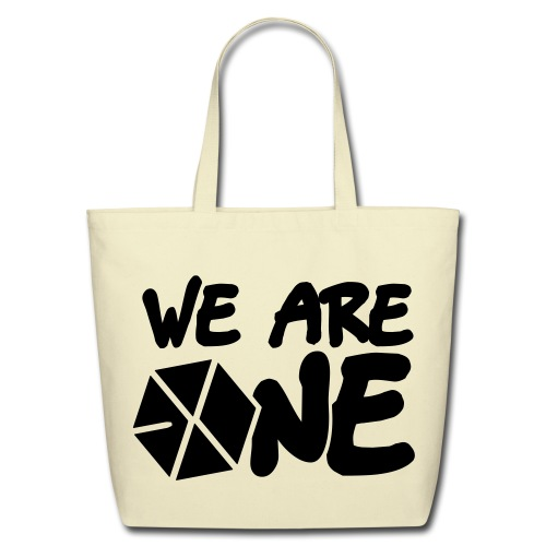 EXO - We are One! (Black Flex Print) [Cotton Tote] - Eco-Friendly Cotton Tote