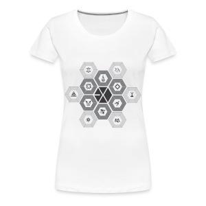 EXO - Hexagons [Women's Shirt] - Women's Premium T-Shirt