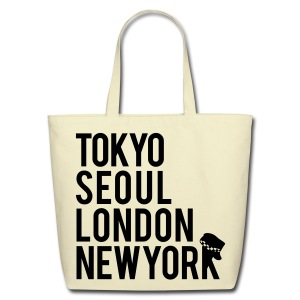Girls' Generation - Mr. Taxi (Black Flex Print) [Cotton Tote] - Eco-Friendly Cotton Tote