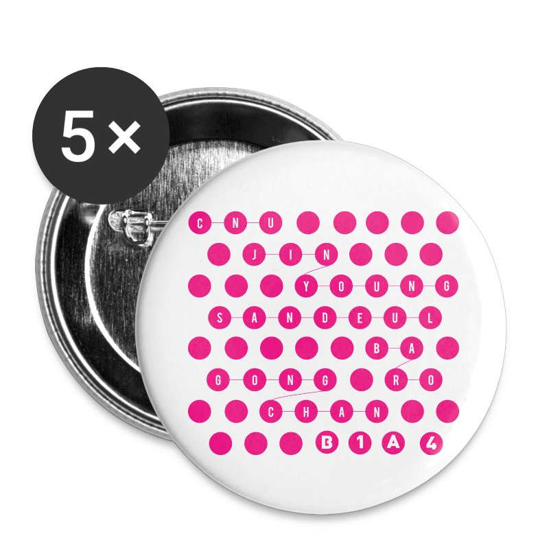 B1A4 - Pink Dots [1 Button] - Small Buttons