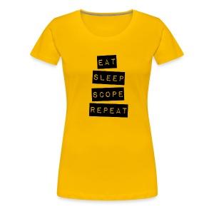 Eat Sleep Scope Repeat - Women's Premium T-Shirt