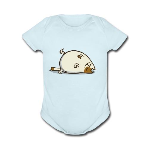 Friday Cat №18 - Organic Short Sleeve Baby Bodysuit