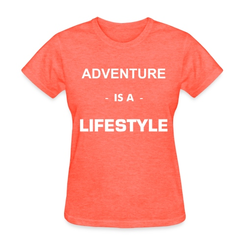 Adventure Is A Lifestyle - Flowy Tank white text - Women's T-Shirt