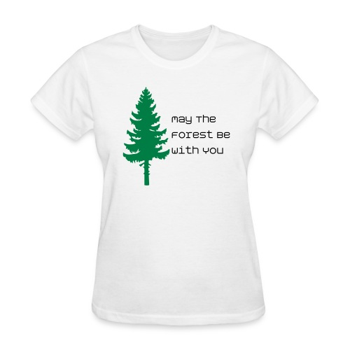May The Forest Be With You - Women's Tee White - Women's T-Shirt