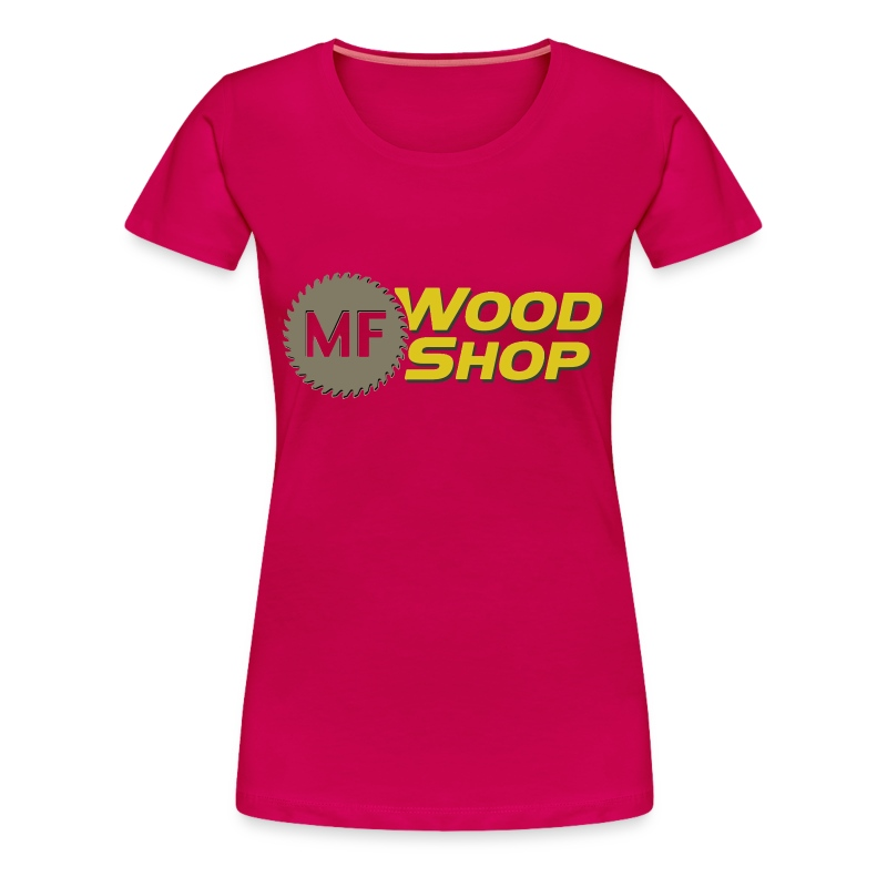 MF Wood Shop Master Logo Design - Women's Premium T-Shirt