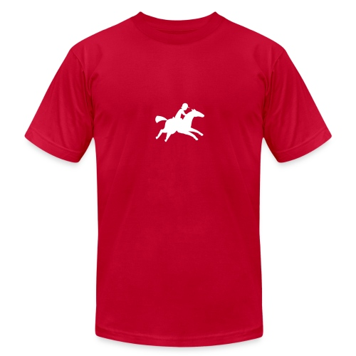 a horse and rider - Men's Fine Jersey T-Shirt