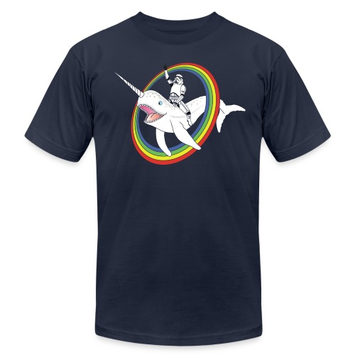 Narwhal Rainbow Stormtrooper - Men's  Jersey T-Shirt