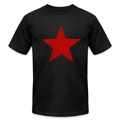 Red Star faded - Men's  Jersey T-Shirt
