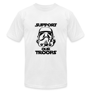 stormtrooper support our troops tshirt - Men's Fine Jersey T-Shirt