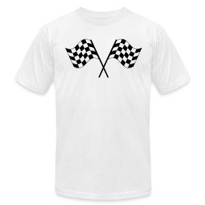 Checkered Flags - Men's Fine Jersey T-Shirt