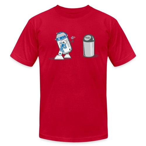 robot_crush_spreadshirt - Men's Fine Jersey T-Shirt