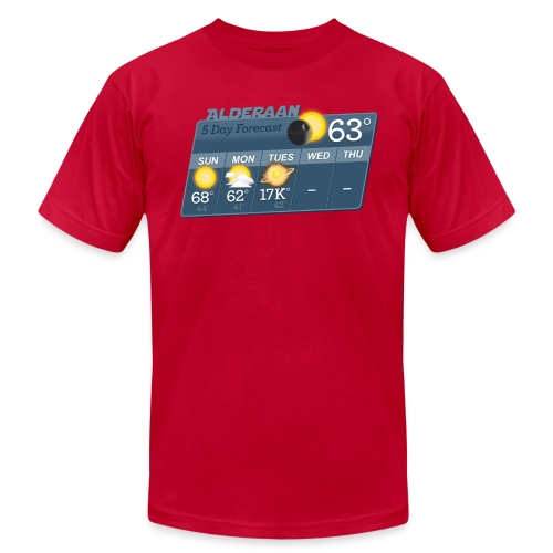 STAR WARS ALDERAAN 5 DAY WEATHER FORECAST - Men's Fine Jersey T-Shirt