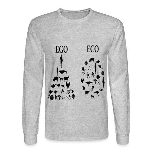 animal rights ego vs eco - Men's Long Sleeve T-Shirt