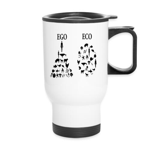 animal rights ego vs eco - Travel Mug