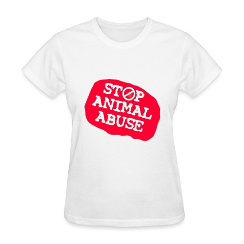 stop animal abuse - Women's T-Shirt