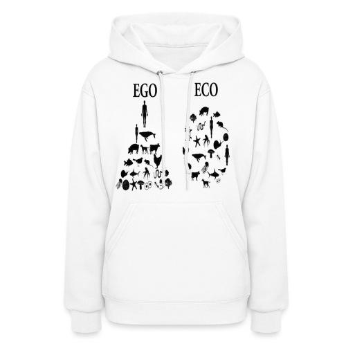 animal rights ego vs eco - Women's Hoodie