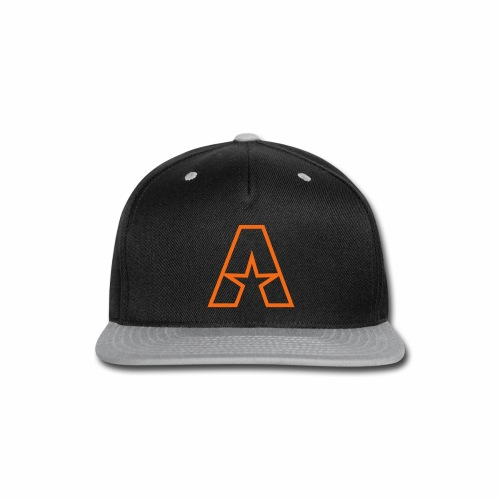 Orange on Black Snapback - Snap-back Baseball Cap