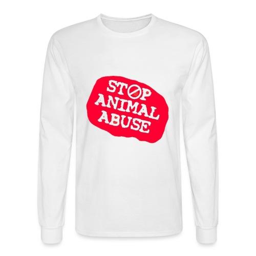 stop animal abuse - Men's Long Sleeve T-Shirt