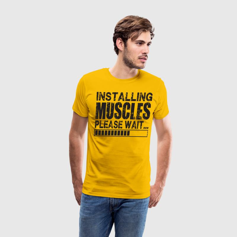 Installing Muscles. Please Wait. T-Shirts - Men's Premium T-Shirt
