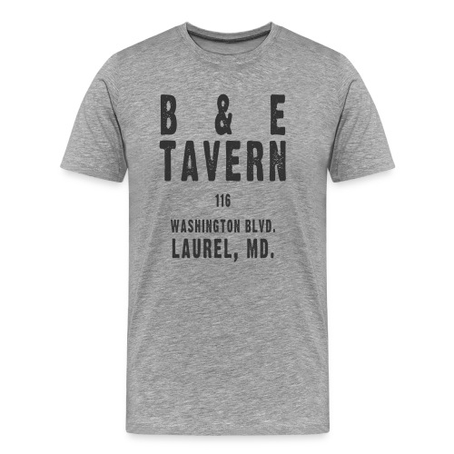 B & E Tavern, black ink - Men's Premium T-Shirt