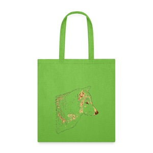 Grey Wolf Head Illustration - Tote Bag