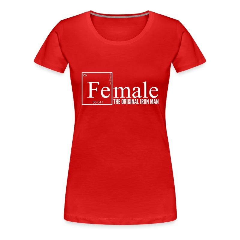 Female Iron Man Tee - Women's Premium T-Shirt