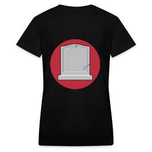 Back custom name - Women's V-Neck T-Shirt
