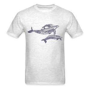 Tropical Whales Mens T-Shirt - Men's T-Shirt