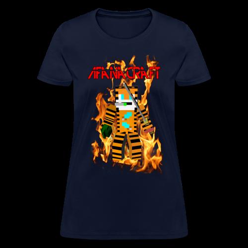 Afana Craft Minecraft Skin Tshirt (Female) - Women's T-Shirt