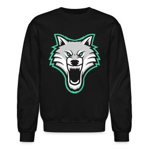 TrapWolves Crewneck Sweatshirt Black - Crewneck Sweatshirt