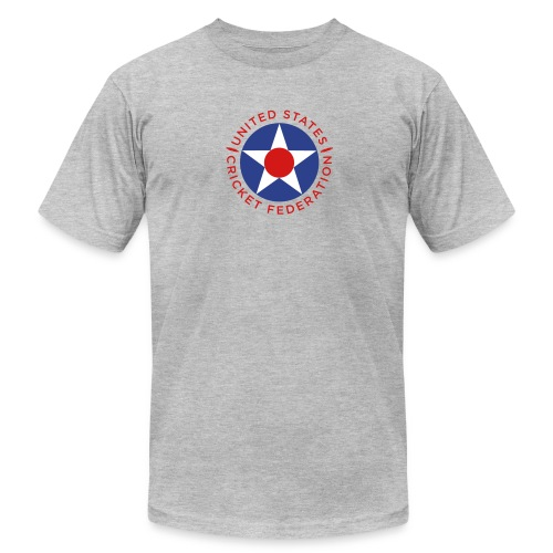 US Cricket Federation Men's T-Shirt by American Apparel, grey - Men's  Jersey T-Shirt