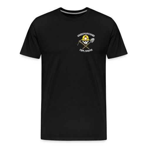 Underground Explorers Premium Black Logo Tee (large sizes available) - Men's Premium T-Shirt