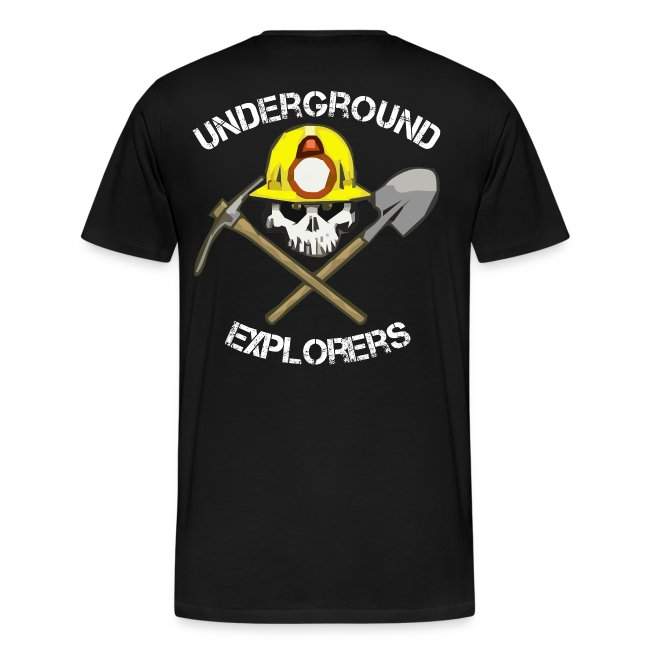 Underground Explorers Premium Black Logo Tee (large sizes available)