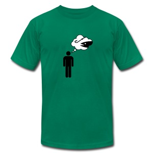Telepathy Men's Fitted T-Shirt (Kelly Green) - Men's T-Shirt by American Apparel