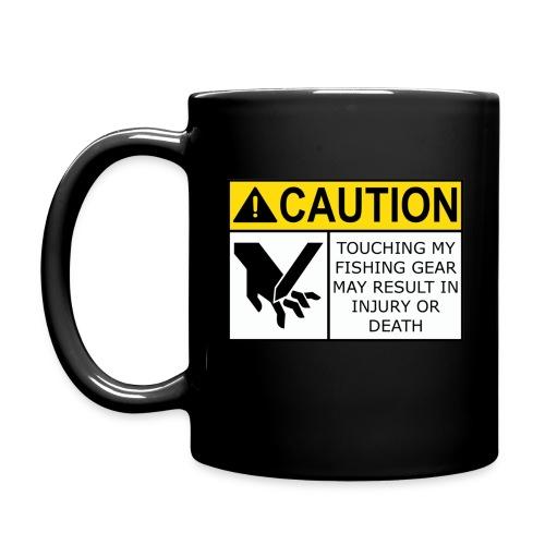 Warning label coffee mug (black) - Full Color Mug