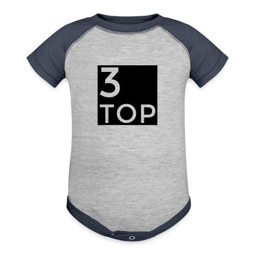 3Top logo:   - Contrast Baby Bodysuit