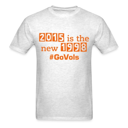 2015 is the new 1998 (mens)/WHITE AND ORANGE - Men's T-Shirt