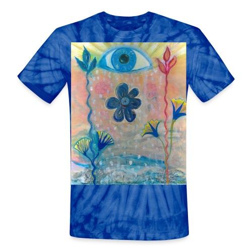 The Eye of Wisdom, Men's Tie Dye T-shirt - Unisex Tie Dye T-Shirt
