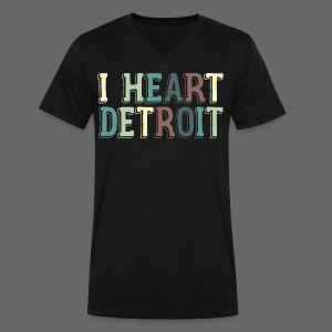 Old I Heart Detroit - Men's V-Neck T-Shirt by Canvas