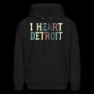 Hoodies ~ Men's Hoodie ~ Old I Heart Detroit