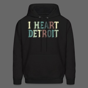 Old I Heart Detroit - Men's Hoodie