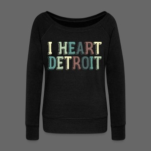 Old I Heart Detroit - Women's Wideneck Sweatshirt