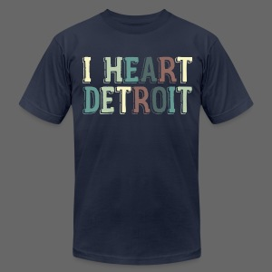 Old I Heart Detroit - Men's T-Shirt by American Apparel