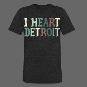 Old I Heart Detroit - Unisex Tri-Blend T-Shirt by American Apparel
