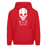 Hoodies ~ Men's Hoodie ~ White & Red 'til I'm Cold and Dead
