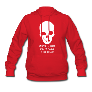 Hoodies ~ Women's Hoodie ~ White & Red 'til I'm Cold and Dead