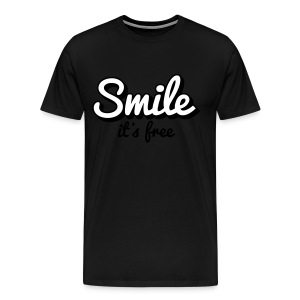 'Smile Its Free' Shirt - Men's Premium T-Shirt